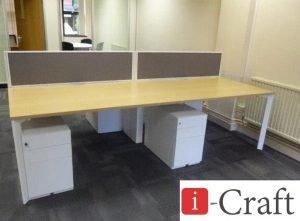 прямые столы с тумбами